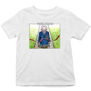 Captain Tom Moore We Salute You Full Colour By Graeme Bandeira Kid's T-Shirt-Help Our NHS Heroes