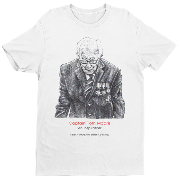 Captain Tom Moore An Inspiration By Adrian Ventura Men's T-Shirt-Help Our NHS Heroes