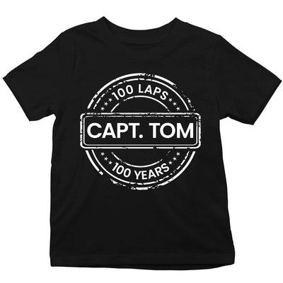 Captain Tom Moore 100 Laps 100 Years Kid's T-Shirt-Help Our NHS Heroes