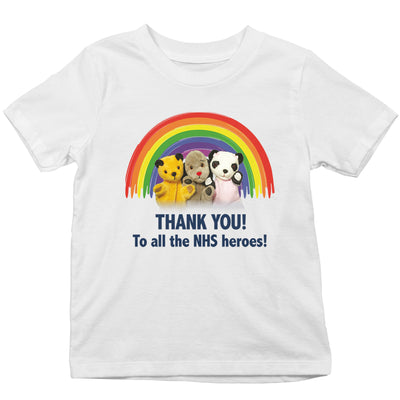 Sooty Thank You To All The NHS Heroes Kid's T-Shirt-Help Our NHS Heroes