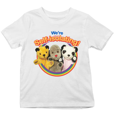 Sooty We Are Self Isolating Kid's T-Shirt-Help Our NHS Heroes