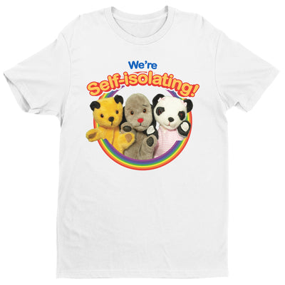 Sooty We Are Self Isolating Men's T-Shirt-Help Our NHS Heroes