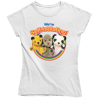 Sooty We Are Self Isolating Women's T-Shirt-Help Our NHS Heroes
