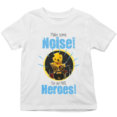 Sooty Make Some Noise For Our NHS Heroes Kid's T-Shirt-Help Our NHS Heroes