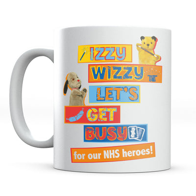 Sooty Izzy Wizzy Lets Get Busy Mug-Help Our NHS Heroes