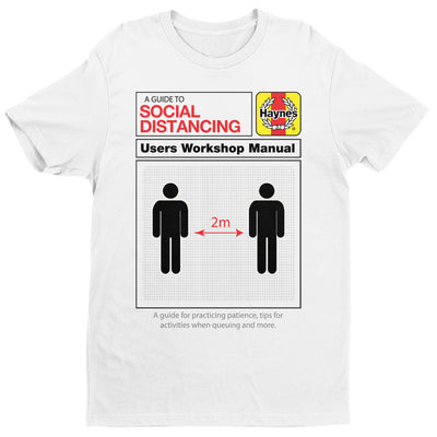 Haynes Manual A Guide To Social Distancing Men's T-Shirt-Help Our NHS Heroes