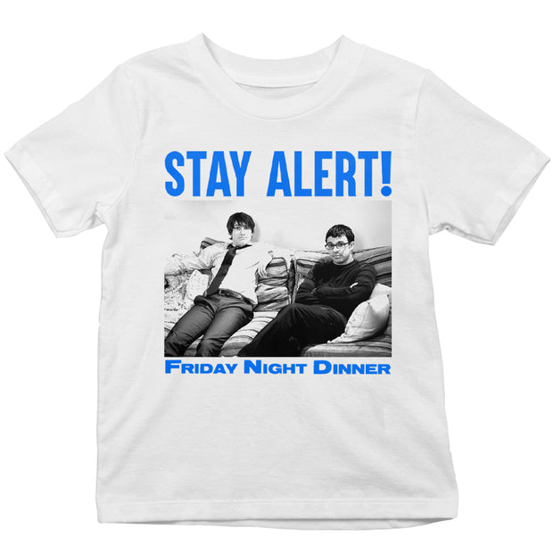 Friday Night Dinner Stay Alert Kid's T-Shirt-Help Our NHS Heroes