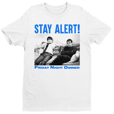 Friday Night Dinner Stay Alert Men's T-Shirt-Help Our NHS Heroes