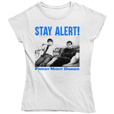 Friday Night Dinner Stay Alert Women's T-Shirt-Help Our NHS Heroes