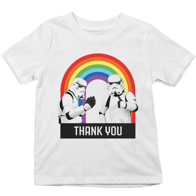 Original Stormtrooper Thank You Rainbow Kid's T-Shirt-Help Our NHS Heroes