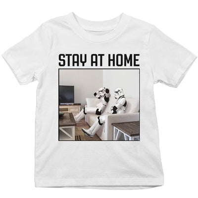 Original Stormtrooper Stay At Home Kid's T-Shirt-Help Our NHS Heroes