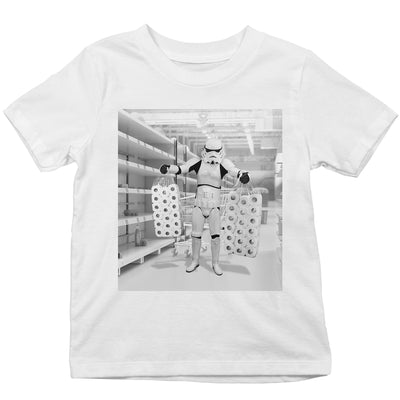 Original Stormtrooper Toilet Paper Stockpiling Kid's T-Shirt-Help Our NHS Heroes