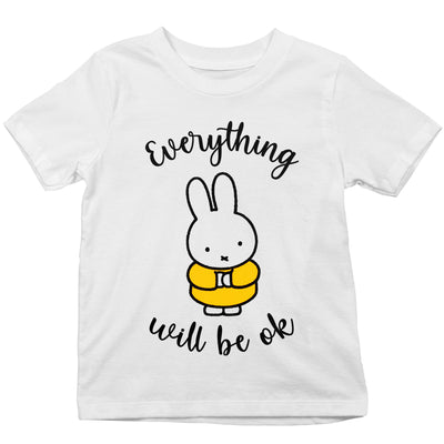 Miffy Eveything Will Be OK Kid's T-Shirt-Help Our NHS Heroes