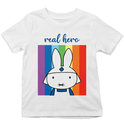 Miffy Real Hero Kid's T-Shirt-Help Our NHS Heroes