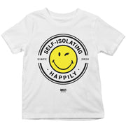Smiley World Self Isolating Happily Since 2020 Kid's T-Shirt-Help Our NHS Heroes