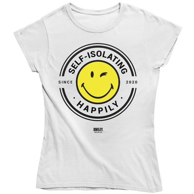 Smiley World Self Isolating Happily Since 2020 Women's T-Shirt-Help Our NHS Heroes
