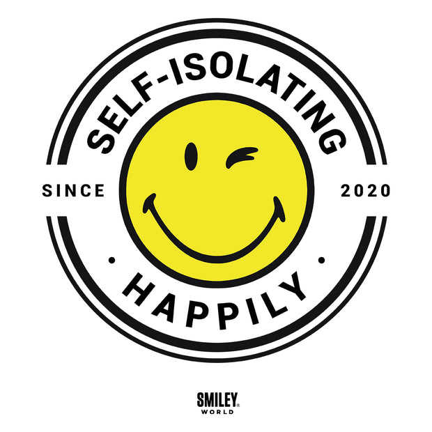 Smiley World Self Isolating Happily Since 2020 Kid's T-Shirt