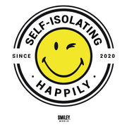Smiley World Self Isolating Happily Since 2020 Men's T-Shirt