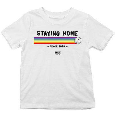 Smiley World Staying Home Since 2020 Kid's T-Shirt-Help Our NHS Heroes