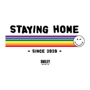 Smiley World Staying Home Since 2020 Women's T-Shirt