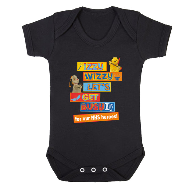 Sooty M Is For Magic But H Is For Heroes Babygrow-Help Our NHS Heroes