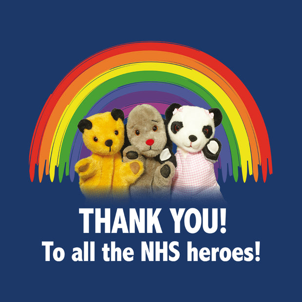 Sooty Thank You To All The NHS Heroes Babygrow