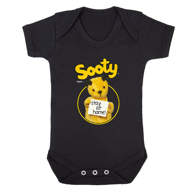 Sooty Says Stay At Home Babygrow-Help Our NHS Heroes