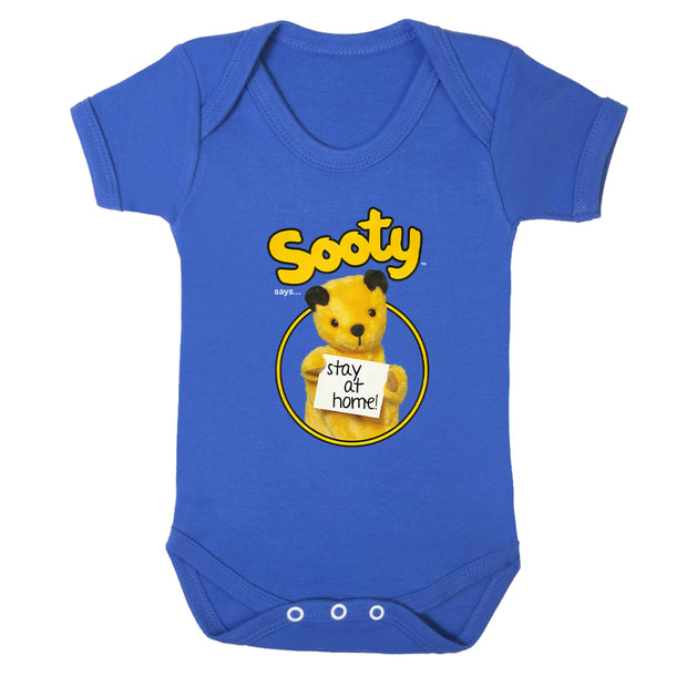 Sooty Says Stay At Home Babygrow