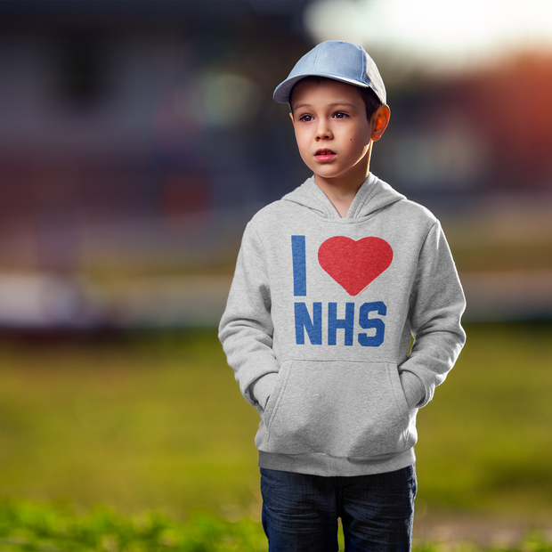 I Heart The NHS Kid's Hooded Sweatshirt
