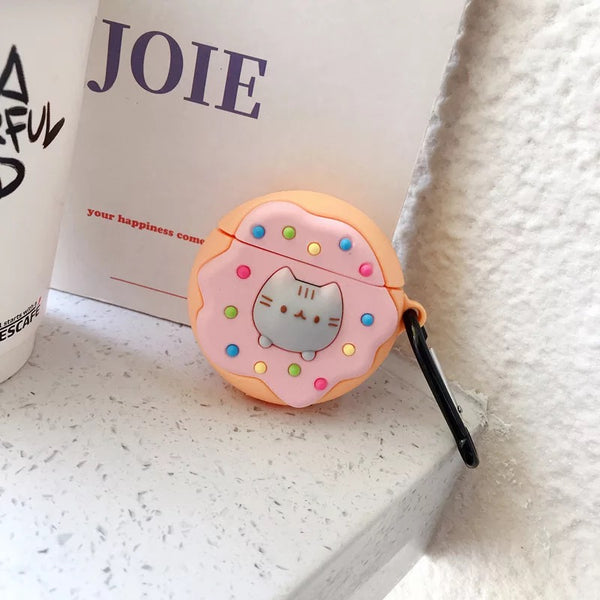 Airpod Case for Apple Airpods 1 and 2 | Pusheen Donut