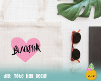 BlackPink SVG Heart Cut File for Silhouette Cricut, KPop SVG, DXF, PNG, BTS