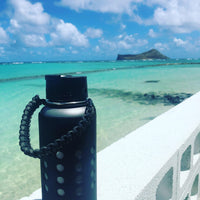 Hydro Flask Paracord Handle | Hunter Green & Black Sharks Tooth Weave