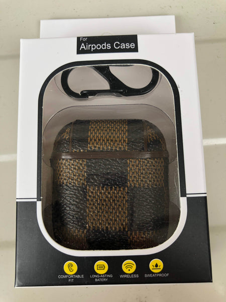 Luxury Airpod Case for Apple Airpod 1 and 2 | Luis Vuitton Damier Ebene Canvas