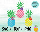 SVG Hawaii Pineapples File for Cricut, Silhouette - Pineappe SVG, DXF, PNG