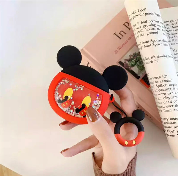 Airpods Case for Apple Airpods 1 and 2 | Disney Tsum Tsum Mickey Mouse with Glitter