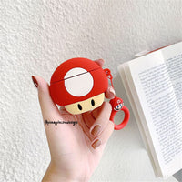 Airpods Case for Apple Airpods 1 and 2 | Mushroom from Super Mario