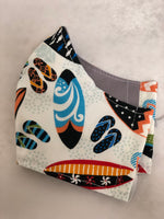 Face Mask, Anti Dust Mask, Travel Mask Hawaiian Print Surfs Up