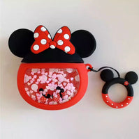 Airpods Case for Apple Airpods 1 and 2 | Disney Tsum Tsum Minnie Mouse with Glitter