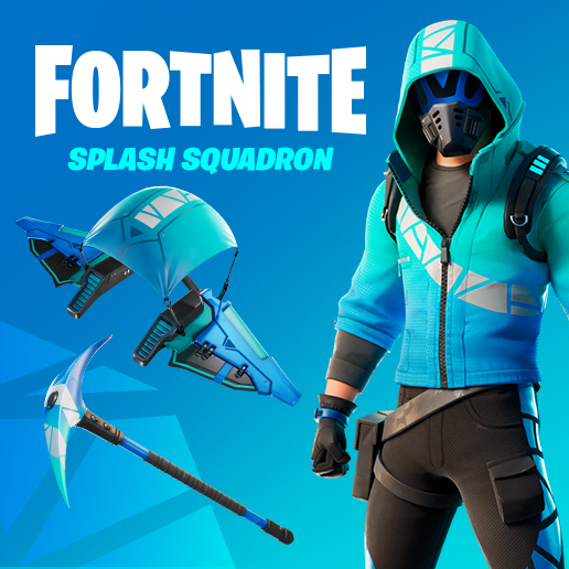 Fortnite Splash Squadron Bundle Set - Exclusive Skin by Intel