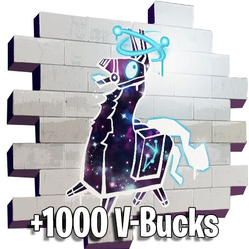 galaxy llama spray Fortnite + 1000 v-bucks