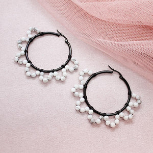 Jesy Pearl Hoop Earrings