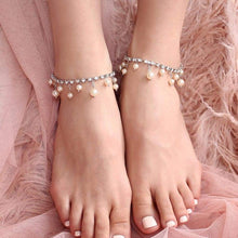 Load image into Gallery viewer, Alexi Pearl & Crystal Anklets from front