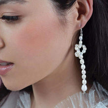 Load image into Gallery viewer, Bekki freshwater pearl loop earrings from left