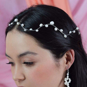 Bekki freshwater pearl crown from left