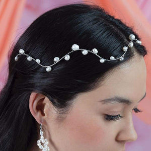 Bekki freshwater pearl crown from right