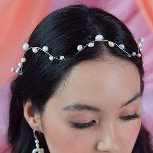 Bekki freshwater pearl crown from top