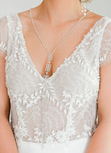 Load image into Gallery viewer, Silver Ember Bridal Backdrop Necklace on front
