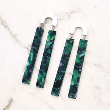 Load image into Gallery viewer, Emerald Frankie Colourful Arch Earrings