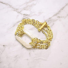 Load image into Gallery viewer, Ivory Joss Gold Chain Bracelet on white