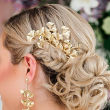 Load image into Gallery viewer, Gold Kiko Bridal Hair Comb from side